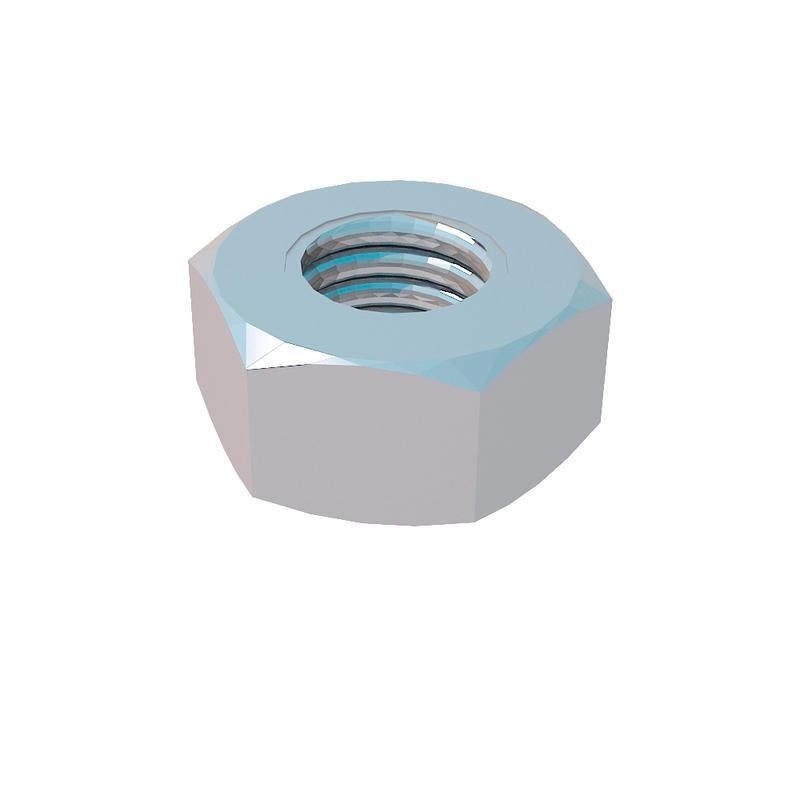 Гайка шестигранная М6 DIN934 G6 сталь КМ LO0689
