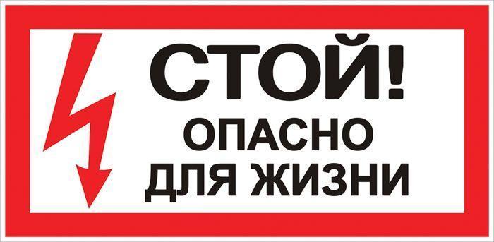 Знак Стой! Опасно для жизни; 100х200мм EKF an-3-06