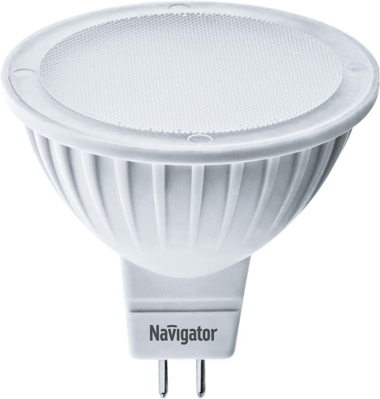 Лампа светодиодная 94 262 NLL-MR16-5-12-3K-GU5.3 5Вт 3000К тепл. бел. GU5.3 360лм 12В Navigator 94262