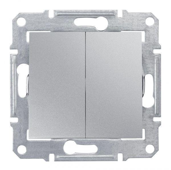 Механизм выключателя 2-кл. СП Sedna 10А IP20 (сх. 5) 250В алюм. SchE SDN0300160