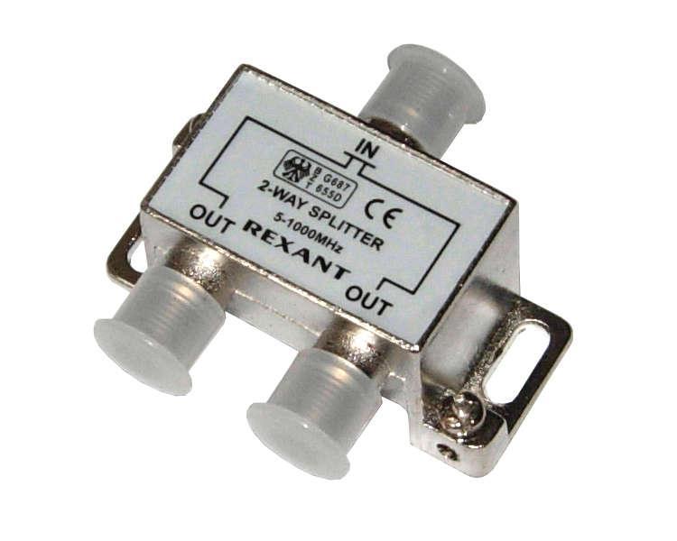 Делитель ТВ краб; х2 под F разъем 5-1000 МГц Rexant 05-6001