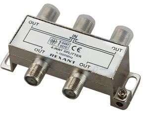 Делитель ТВ краб; х4 под F разъем 5-1000 МГц Rexant 05-6003