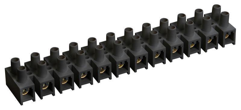 Зажим винтовой ЗВИ-3 н/г 1.0-2.5кв.мм 12пар черн. IEK UZV5-003-04