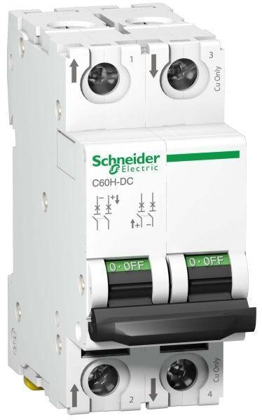 Выключатель автоматический модульный 2п C 6А 6кА Acti9 C60H-DC DC SchE A9N61526