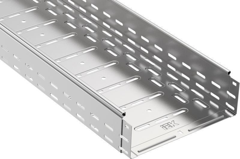 Лоток листовой перфорированный 200х100 L3000 сталь 0.8мм IEK CLP10-100-200-3