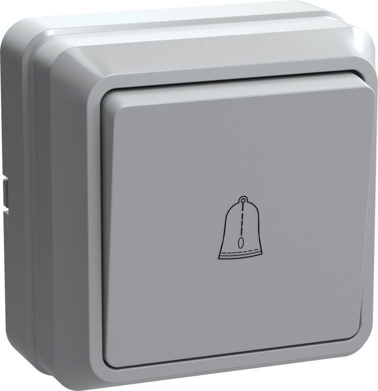 Выключатель кнопочный 1-кл. ОП Октава 10А IP20 ВСк20-1-0-ОБ бел. IEK EVO13-K01-10-DC