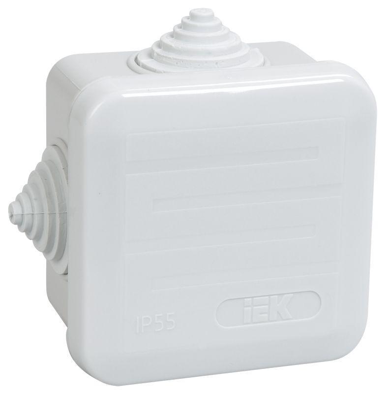 Коробка распаячная ОП 70х70х40 IP44 КМ41236 (4 гермоввода) IEK UKOZ11-070-070-040-K41-44