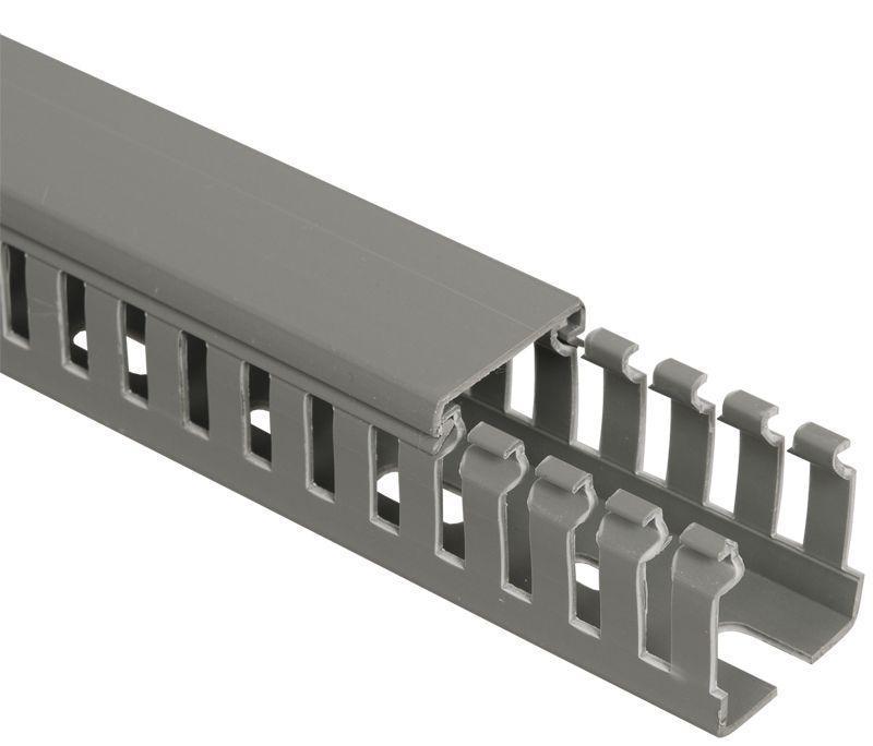 Кабель-канал перфорированный 80х60 L2000 ИМПАКТ серия М (7х11) IEK CKM50-080-060-1-K03