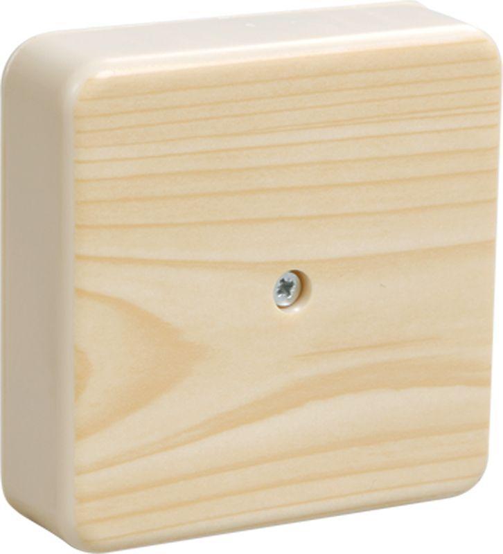Коробка распаячная ОП 75х75х28 IP20 КМ41216-04 (6 клем. 6кв.мм) сосна IEK UKO10-075-075-028-K34