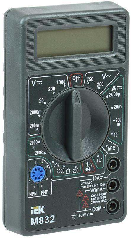 Мультиметр цифровой Universal M832 IEK TMD-2S-832