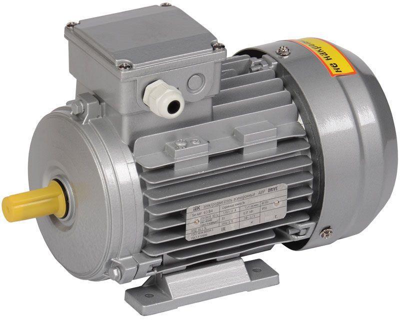 Электродвигатель АИР DRIVE 3ф 63B4 380В 0.37кВт 1500об/мин 1081 IEK DRV063-B4-000-4-1510