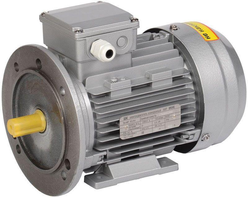 Электродвигатель АИР DRIVE 3ф 63B4 380В 0.37кВт 1500об/мин 2081 IEK DRV063-B4-000-4-1520
