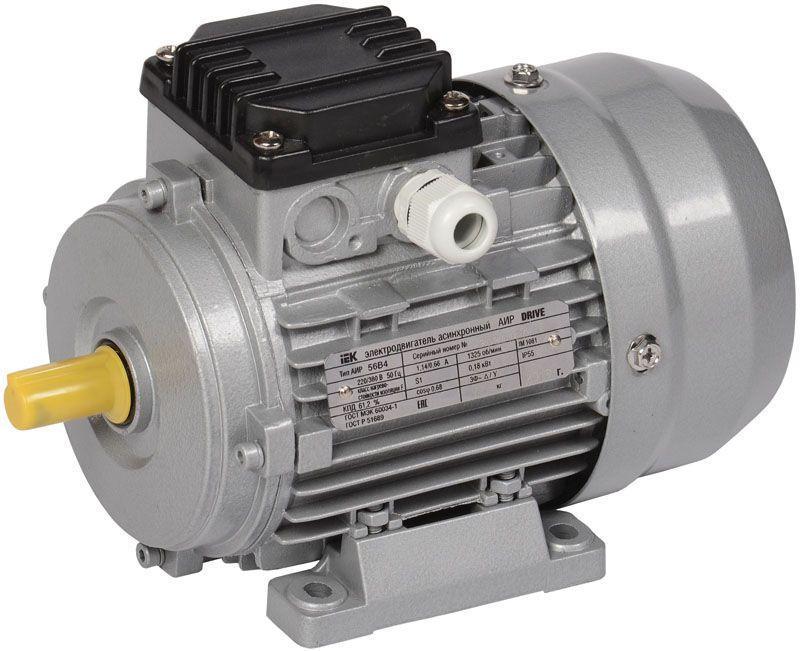 Электродвигатель АИР DRIVE 3ф 56B4 380В 0.18кВт 1500об/мин 1081 IEK DRV056-B4-000-2-1510