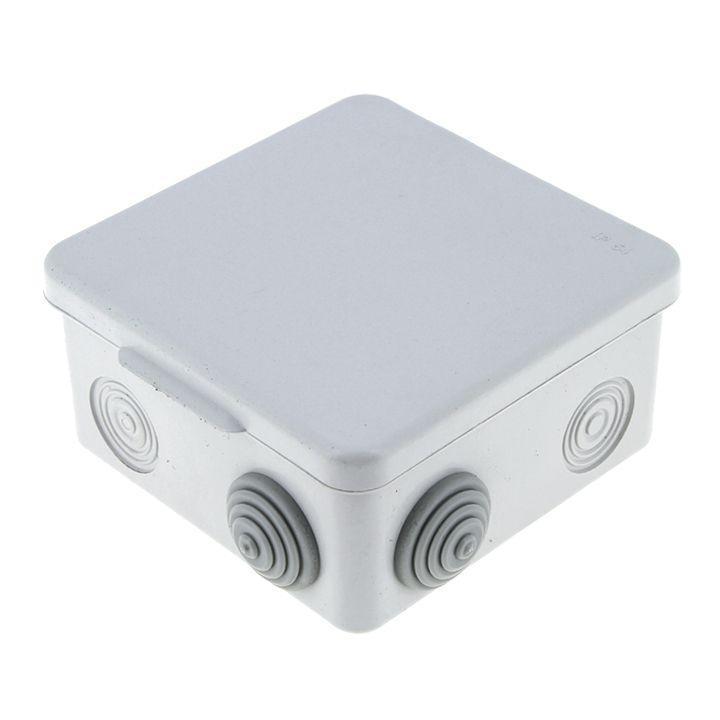Коробка распаячная КМР-030-014 наружная с крышкой 100х100х55 АБС 8 мембранных вводов IP54 EKF plc-kmr-030-014