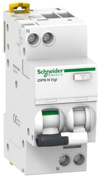 Выключатель автоматический дифференциального тока 2п C 16А 30мА тип AC 6кА Acti9 iDPN N Vigi SchE A9D31616