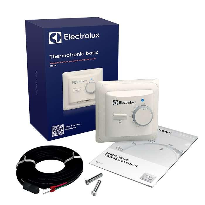 Термостат механический ETB-16 Basic 16А датчик пола Electrolux НС-1013675