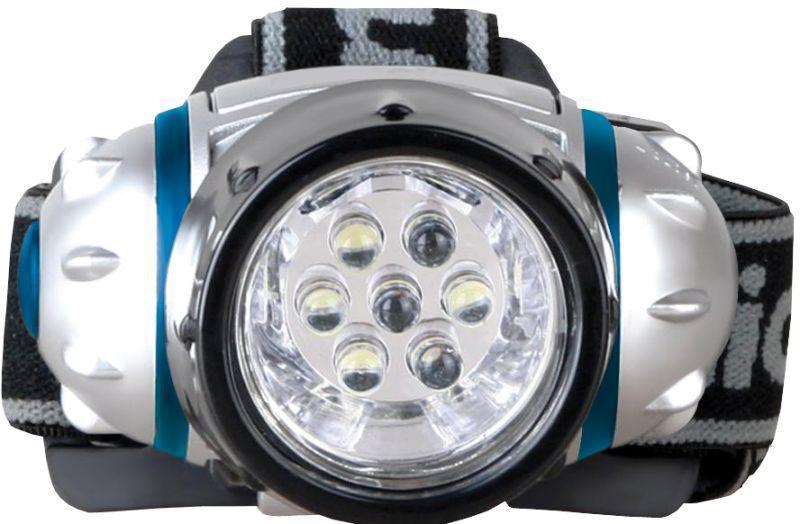 Фонарь налобный LED5310-7F3 (7LED 3 режима  3хR03 в комплекте  метал.) Camelion 7534