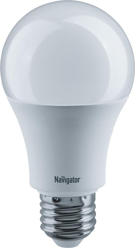 Лампа светодиодная 71 297 NLL-A60-12-230-4K-E27 (Standard) 12Вт грушевидная 4000К бел. E27 1000лм 176-264В Navigator 71297