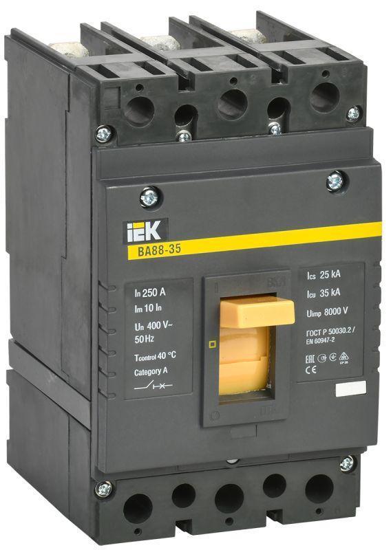 Выключатель автоматический 3п 250А 35кА ВА 88-35 IEK SVA30-3-0250
