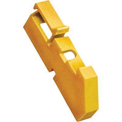 Изолятор на DIN-рейку желт. IEK YIS21