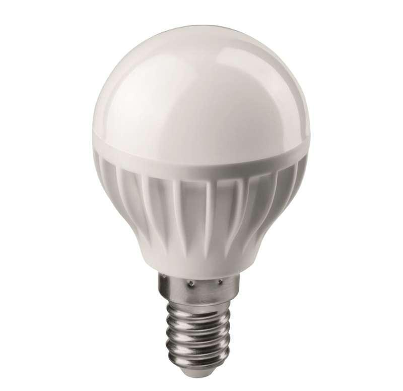 Лампа светодиодная 71 644 OLL-G45-6-230-4K-E14 6Вт шар 4000К бел. E14 470лм 176-264В ОНЛАЙТ 71644