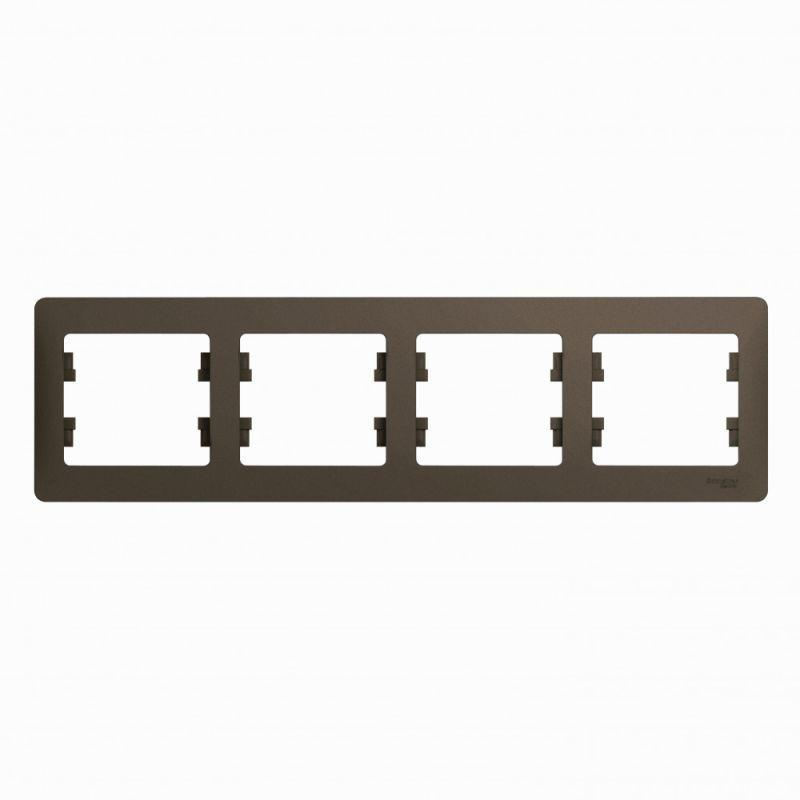 Рамка 4-м Glossa горизонт. шоколад SchE GSL000804