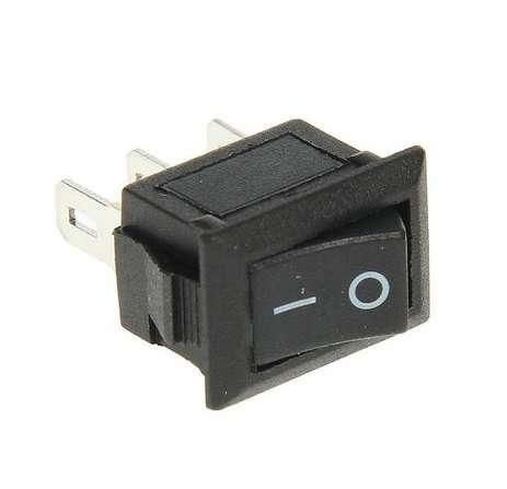 Выключатель клавишный 250В 3А (3с) ON-ON черн. Micro (RWB-102) Rexant 36-2030