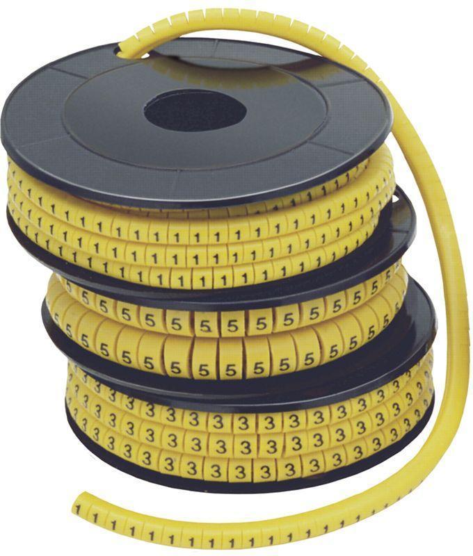 Маркер каб. МК0-1.5мм 6; 1000шт/ролл IEK UMK00-6
