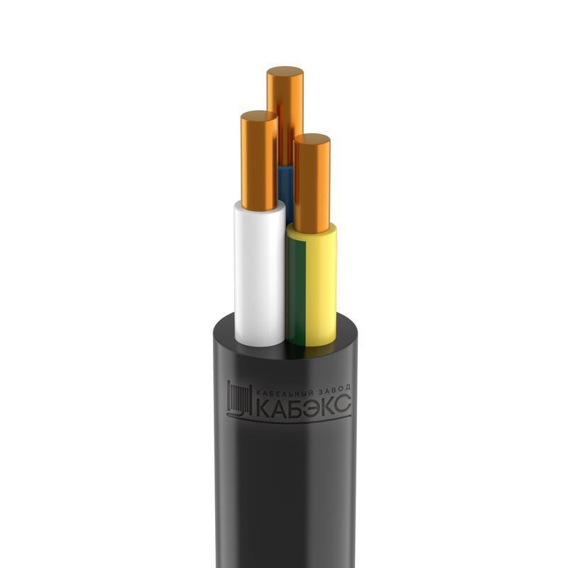 Кабель ВВГнг(А)-LS 3х2.5 ок (N PE) 0.66кВ (м) Кабэкс ТХМ00130579