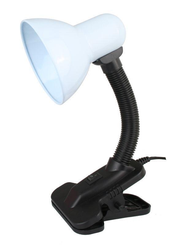 Светильник UF-320P С01 настол. прищепка 230В 60Вт E27 ЛОН бел. Ultraflash 12370