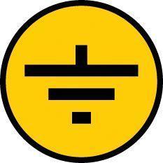 Символ Заземление; 30х30 IEK YPC20-ZAZEM-1-096