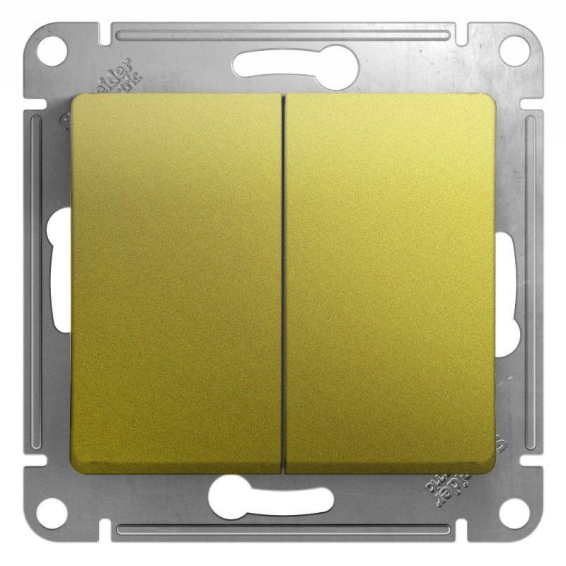 Механизм выключателя 2-кл. СП Glossa 10А IP20 (сх. 5) 10AX фисташк. SchE GSL001051