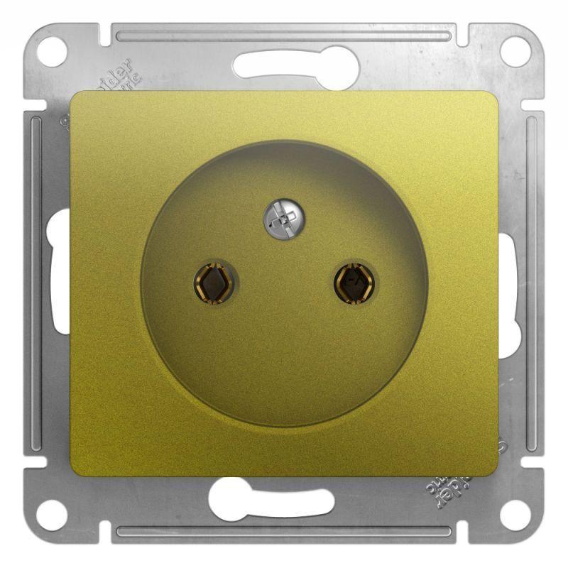 Механизм розетки 1-м СП Glossa 16А IP20 250В без заземл. фисташк. SchE GSL001041