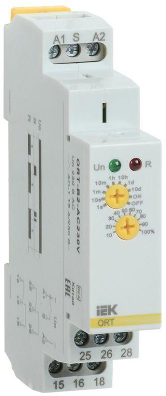Реле задержки выключения ORT 2 контакта 230В AC IEK ORT-B2-AC230V