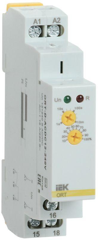 Реле задержки выключения при снятии питания ORT 12-240В AC/DC IEK ORT-D-ACDC12-240V