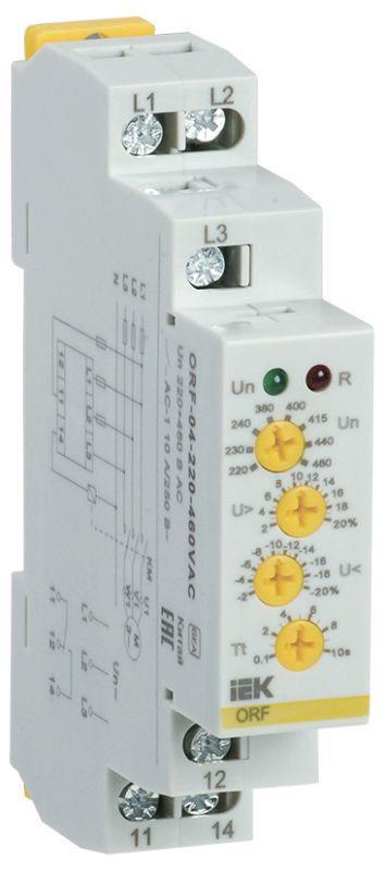Реле фаз ORF 04 3ф 220-460В AC IEK ORF-04-220-460VAC