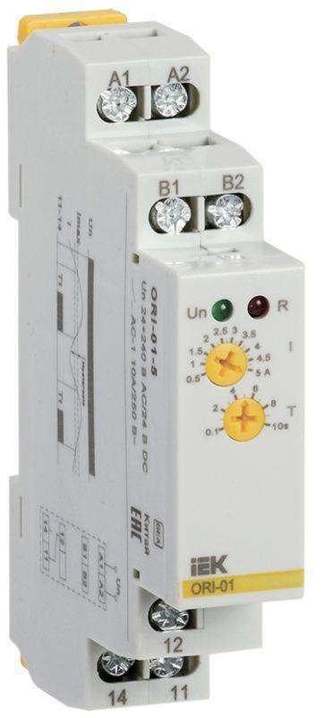 Реле тока ORI 0.5-5А 24-240В AC/24В DC IEK ORI-01-5
