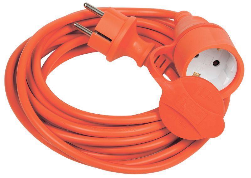 Удлинитель-шнур 1х10м вилка+розетка 2P+PE IP44 УШ-01РВ 3х1 оранж. IEK WUP10-10-K09-44