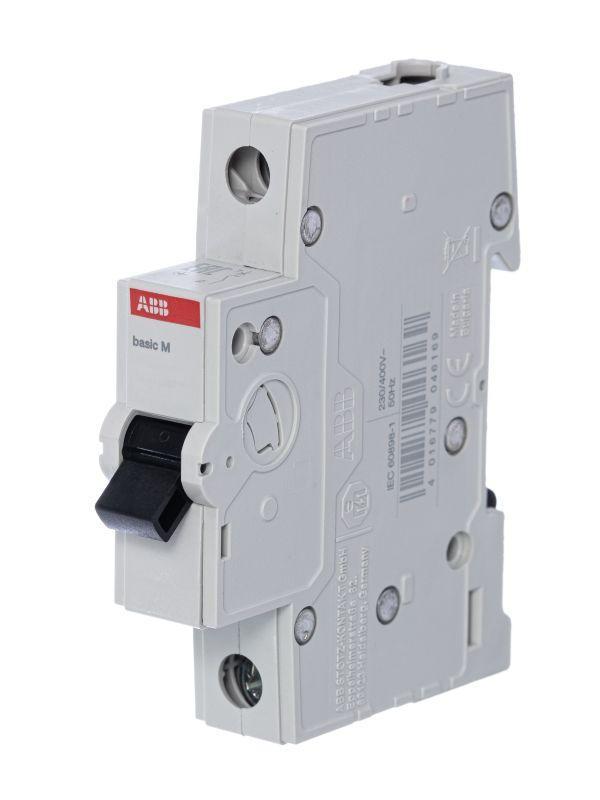 Выключатель автоматический модульный 1п C 6А 4.5кА Basic M BMS411C06 ABB 2CDS641041R0064