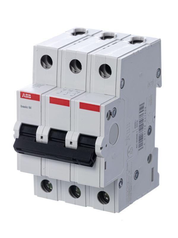 Выключатель автоматический модульный 3п C 50А 4.5кА Basic M BMS413C50 ABB 2CDS643041R0504