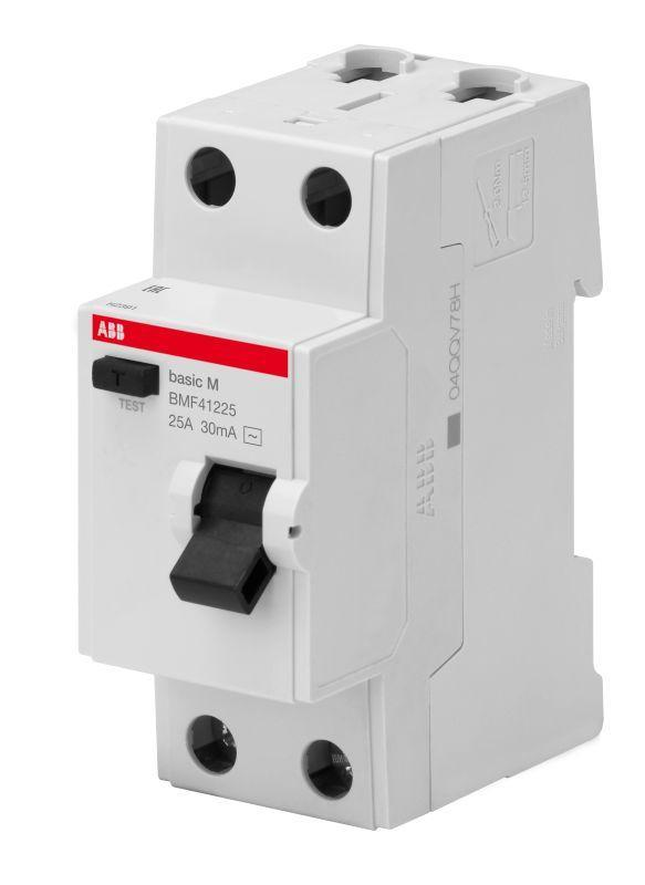 Выключатель диф. тока 2п 25А 30мА тип AC Basic M BMF41225 ABB 2CSF602041R1250