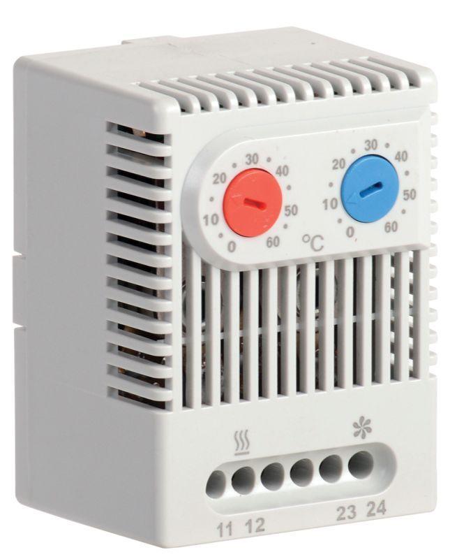 Термостат двухканальный УККт от 0 до +60град.C NO+NC IEK YCE-DTNO-NC-60