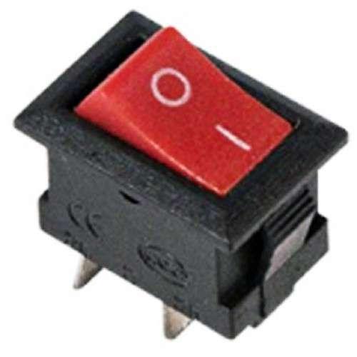 Выключатель клавишный 250В 3А (2с) ON-OFF Micro RWB-101 красн. Rexant 36-2011