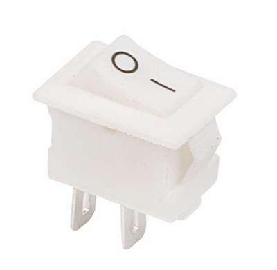 Выключатель клавишный 250В 3А (2с) ON-OFF бел. Micro (RWB-101) Rexant 36-2012