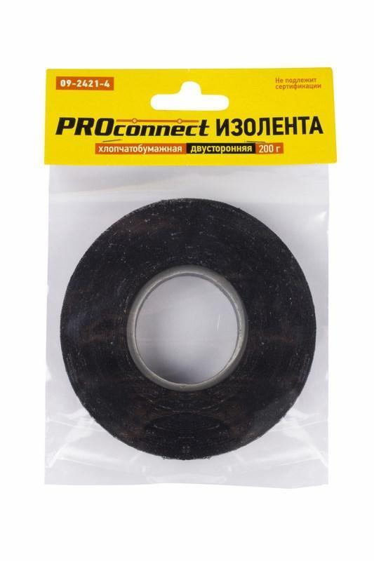 Изолента х/б 18мм двусторонняя 31.9м 200г Proconnect 09-2421-4