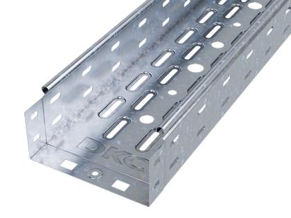 Лоток листовой перфорированный 100х80 L3000 сталь 0.7мм DKC 35302
