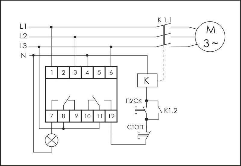 Реле контроля наличия и чередования фаз CKF-318-1 (контроль чередования; слипания фаз; регулировка верх. и нижн. порога напряжения; регулировка задержки отключения; 1 модуль; монтаж на DIN-рейке)(аналог РНПП-311М) F&F EA04.002.007