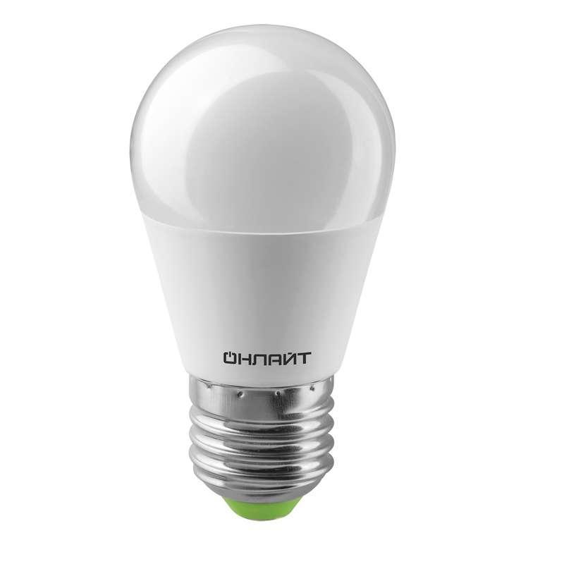 Лампа светодиодная 61 970 OLL-G45-10-230-6.5K-E27 10Вт ОНЛАЙТ 61970