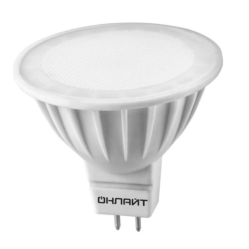 Лампа светодиодная 61 889 OLL-MR16-10-230-3K-GU5.3 10Вт ОНЛАЙТ 61889