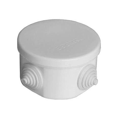 Коробка распределительная ОП 75х45мм IP54 4 выхода 4 гермоввода крышка защелкивающаяся сер. Epplast 240342
